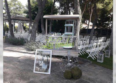 Decoración de exteriores bodas BE-0003