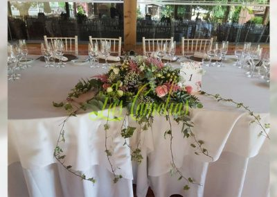 Decoración floral banquete boda BB-0001