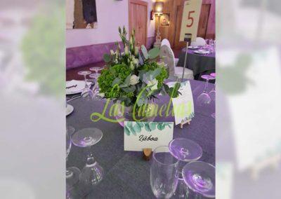 Decoración floral banquete boda BB-0002