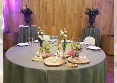 Decoración floral banquete boda BB-0003