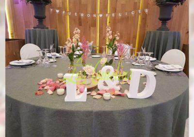 Decoración floral banquete boda BB-0005
