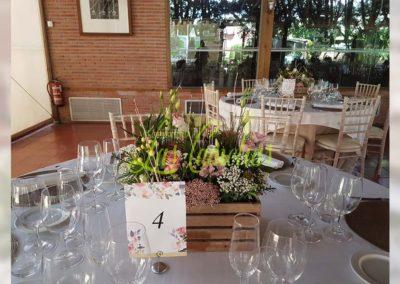 Decoración floral banquete boda BB-0006