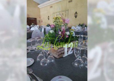 Decoración floral banquete boda BB-0007