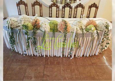 Decoración floral banquete boda BB--0008