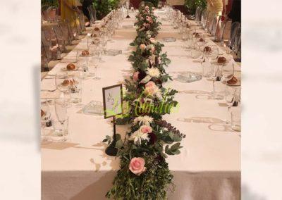 Decoración floral banquete boda BB-0009