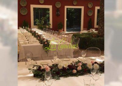 Decoración floral banquete boda BB-0010