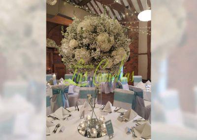 Decoración floral banquete boda BB-0012