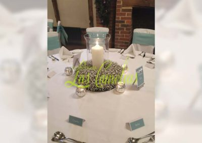 Decoración floral banquete boda BB-0013