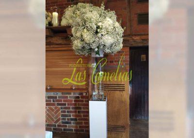Decoración floral banquete boda BB-0014