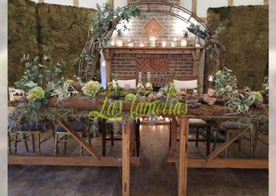 Decoración floral banquete boda BB-0017