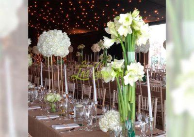 Decoración floral banquete boda NB82
