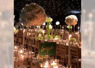 Decoración floral banquete boda NB83