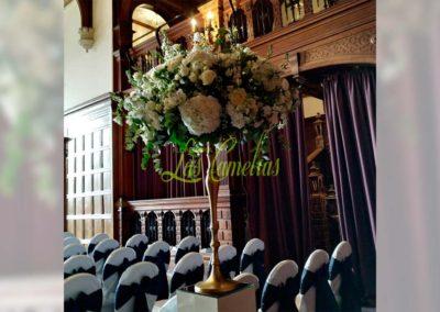 Decoración floral banquete boda 19052906
