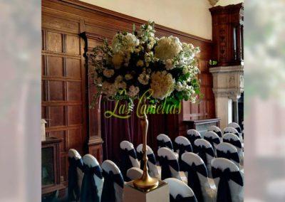 Decoración floral banquete boda 19052907