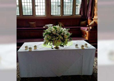Decoración floral banquete boda 19052908