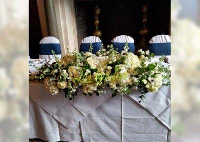 Decoración floral banquete boda 19052909