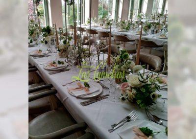 Decoración floral banquete boda 19052912