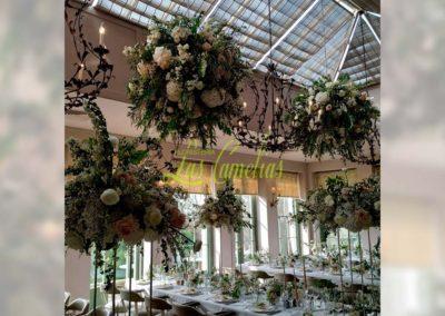 Decoración floral banquete boda 19052913