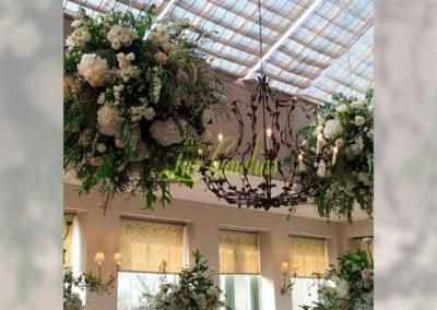 Decoración floral banquete boda 19052915
