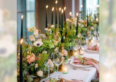 Decoración floral banquete boda 19052920