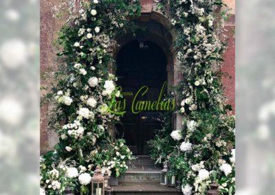 Decoración floral banquete boda 19052922