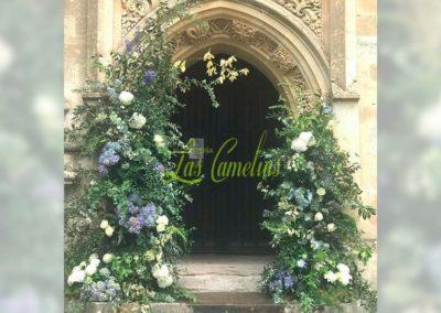 Decoración floral banquete boda 19052923