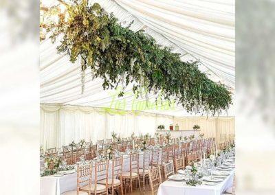 Decoración floral banquete boda 19052925