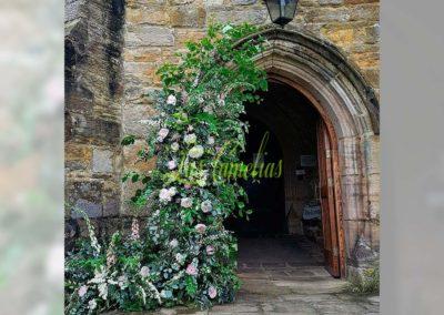 Decoración floral banquete boda 19052926