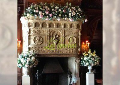 Decoración floral banquete boda 19052937