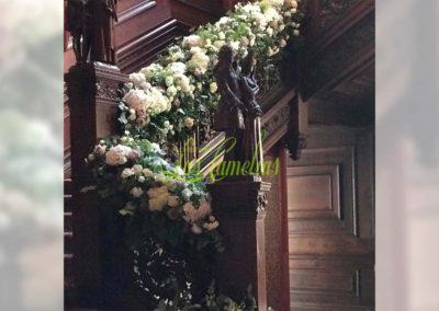 Decoración floral banquete boda 19052938