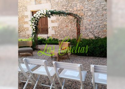 DECORACIÓN FLORAL CEREMONIA BODA